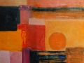 3. 'Orange Abstract' 41 x 51cm oil on canvas, framed £150 SOLD