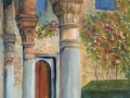 "59. 'Generalife, Granada' 11 x 16""watercour, glazed & framed £90"